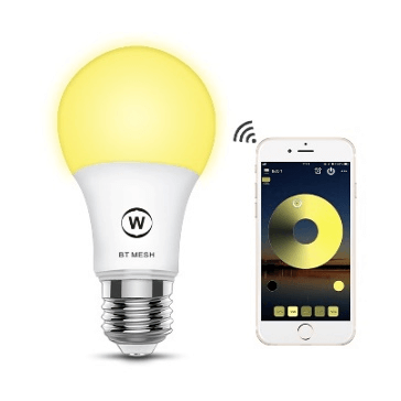 SS BTB WW 4.5W smart A19 A60 led bulb bluetooth mesh color changing